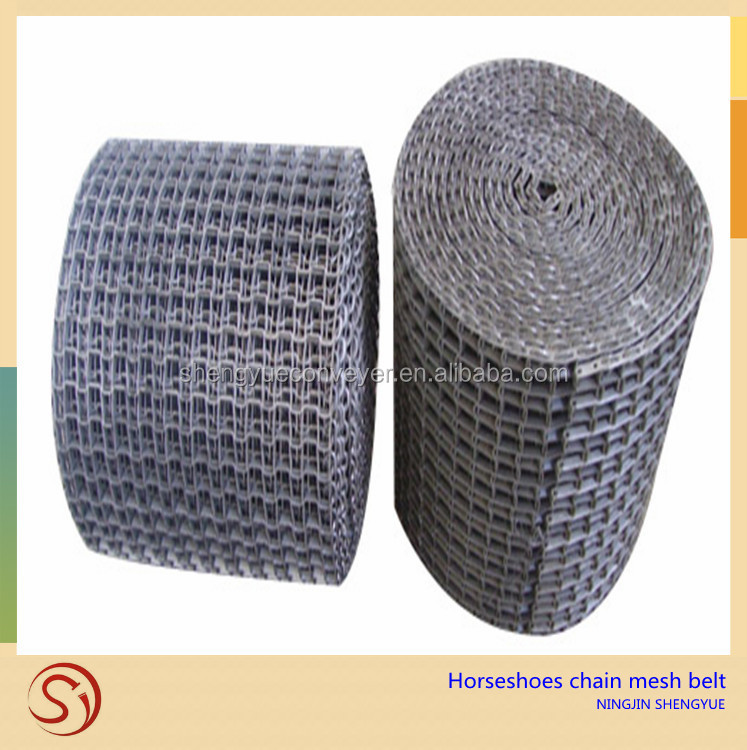 good air permeability stainless steel horseshoe chain wire mesh conveyor belt