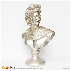 Resin Head Bust Statue of David for Study Table