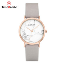 Shenzhen Manufacturer Elegant Style Custom Logo Marble Dial Face Stainless Steel Case Ladies Women Wrist Watches