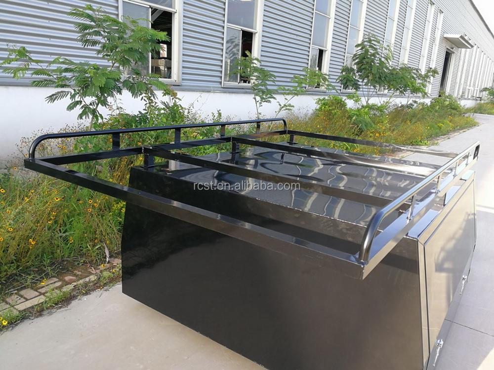 Overhang Cab Rack Black 2400x1600mm for Dual Cab Aluminum UTE Canopy
