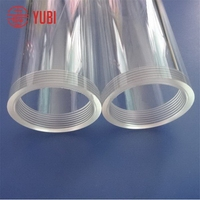 Top grade new products cylinder plexiglass tube with threaded