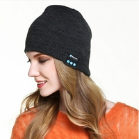 Wireless BT Beanie Hat Cap with Musicphone Speakerphone Stereo Headphone Headset Earphone
