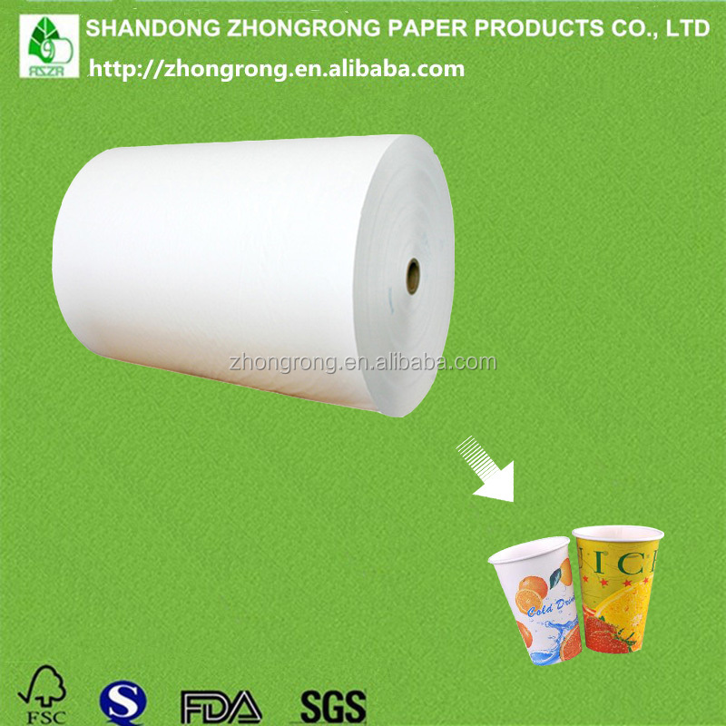 100% virgin wood pulp PE coated paper for disposable paper cups