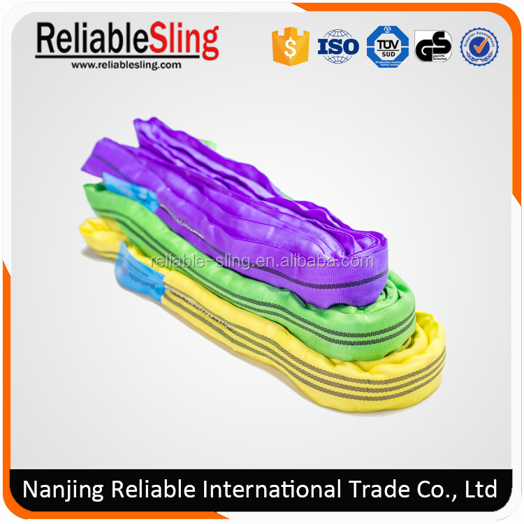 Largo Tons Nylon Polyester Round Webbing Sling Color Code