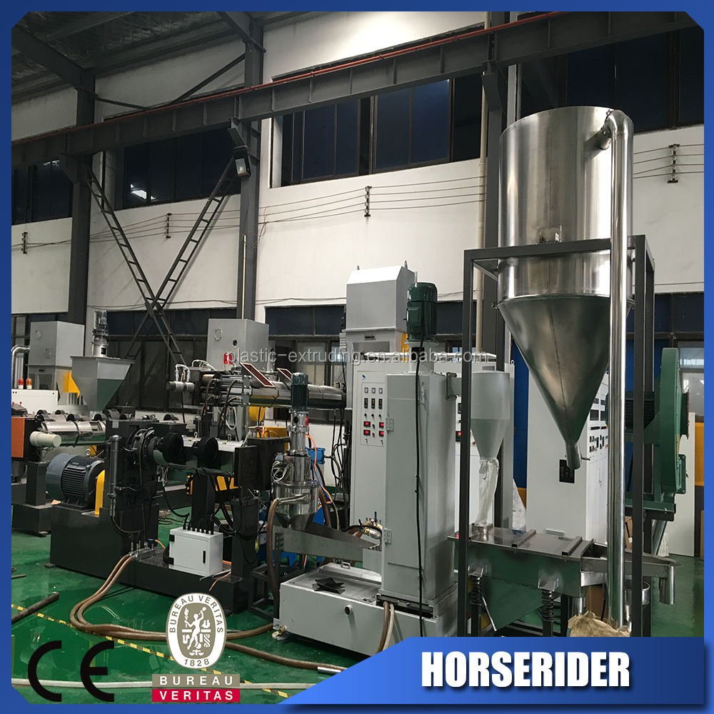 Plastic pe pp film recycling production line/waste plastic pp pe film granulator plant/double stage regrind line