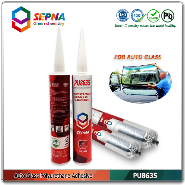 PU8635 no odor PU adhesive under high temperature/ no smell autoglass pu adhesive sealant for bus side glass