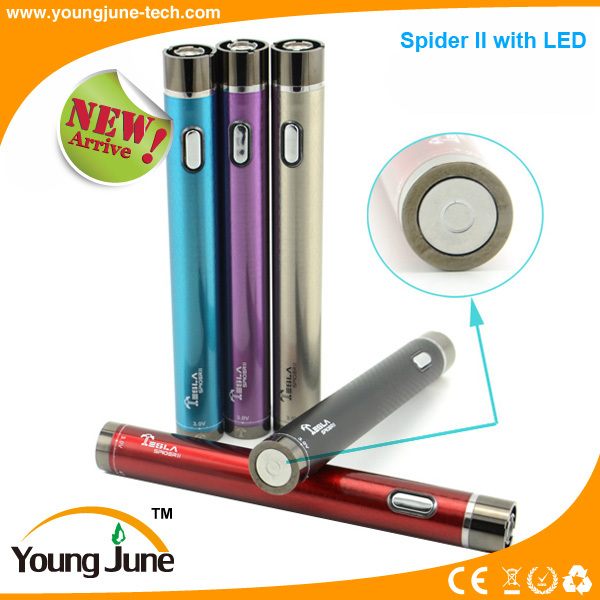 E-cigarette dmt Tesla spider 2 ego micro battery teamgiant at factory price