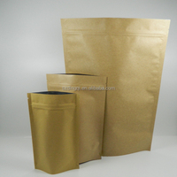 printing Kraft paper bag with window greaseproof standup paper bag for fried chicken