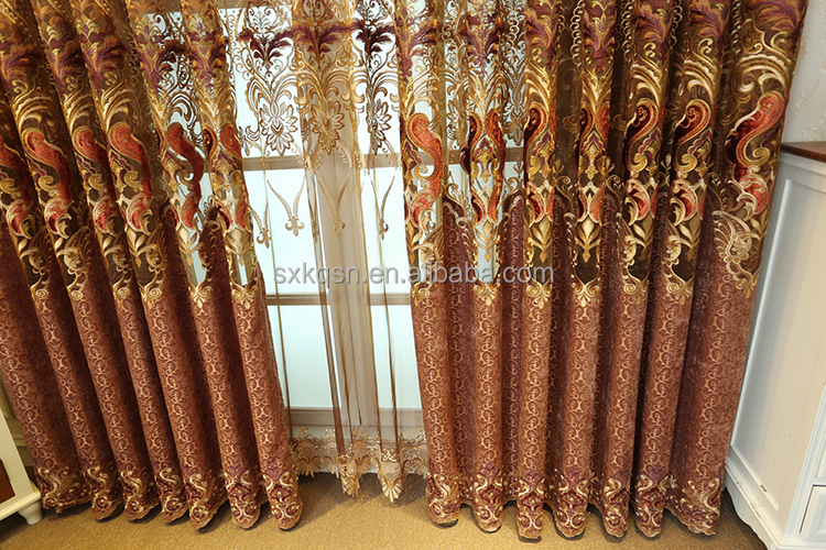 Best curtain embroidery fabric sheer waterproof bathroom curtains