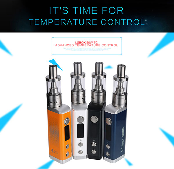 New Product LSBOX TC 50w Mod Ecig Starter Kit Box Mod Kit china wholesale vaporizer pen