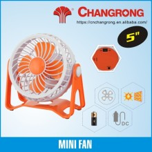 5inch USB small fan toy fan rechargeable DC fan dry battery