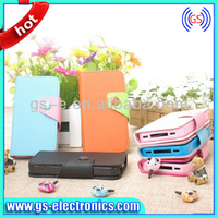 High Quality for Apple iPhone 5C Wallet Card Holder Leather Cover Case Candy color leather case