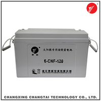 Deep Cycle Rechargeable 12V 120AH solar energy storage battery with certification