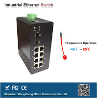 4-port ruggedcom optical Industrial Ethernet Switch