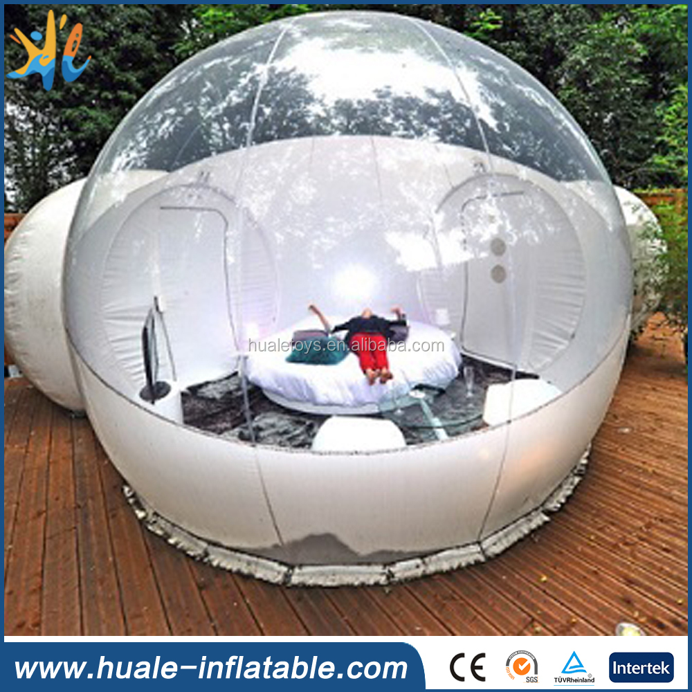 Clear inflatable lawn tent, inflatable transparent party tent, camping inflatable bubble tent
