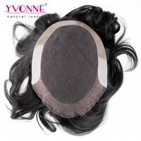 Factory price 6 Inches body wave toupees for black men