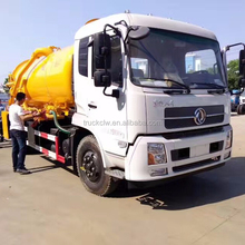 2720*1600*2040mm Dimensions (L x W x H) (mm) and Diesel Fuel Type sewer truck dongfeng 8kl vacuum tank sewage suction truck