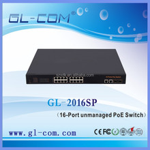 POE Function and 10/100Mbps Transmission Rate Network 16 Port Poe switch