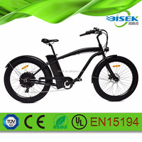 green 30-50km/h Max Speed and 31-60 km Range per Power strong electric chopper bike