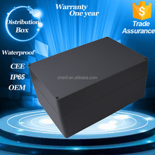 High quality Custom Black IP65 ABS material waterproof plastic distribution box with 115*90*55mm