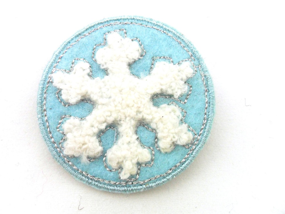 Snowflake custom blank embroidery patch buy