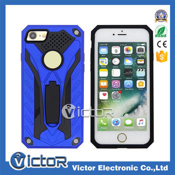 Kickstand Hybrid Combo Case Mobile Phone PC hard Case case for Apple Iphone 6