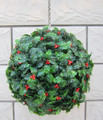 30CM Plastic Artificial Grass Ball Christmas Holly Ball