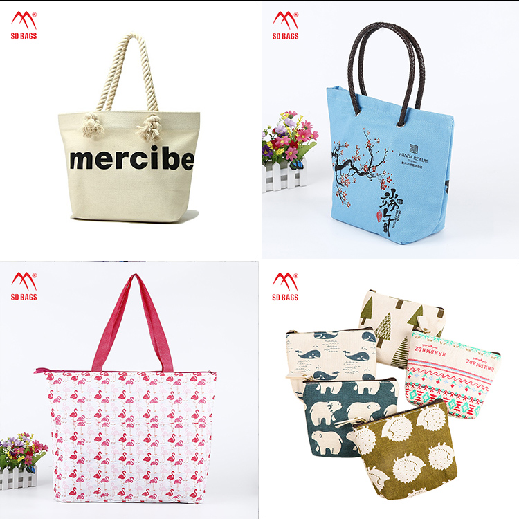 new style canvas tote custom gift shopping promotion drawstring cotton bag