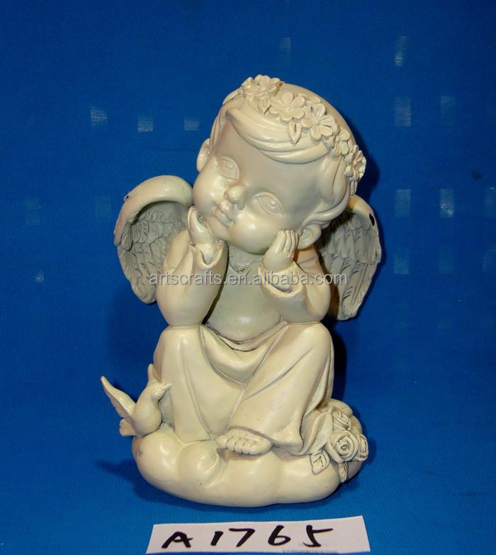Christmas decorative resin angel thinking