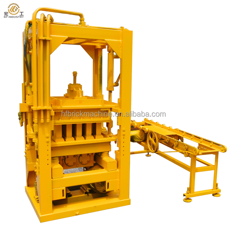 QTF3-20 semi automatic brick machines for selling high quality hollow concrete cement block brick making mahcines