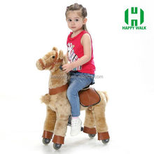 Happy Island most hot sale wooden plush rocking horse,toy horses to ride,wooden rocking horse painted