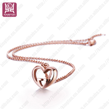 chennai supplier indian best friend gold heart shaped necklace