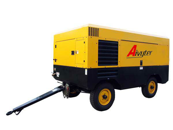 Safe and Economy Diesel Portable Air Compressor For Mining