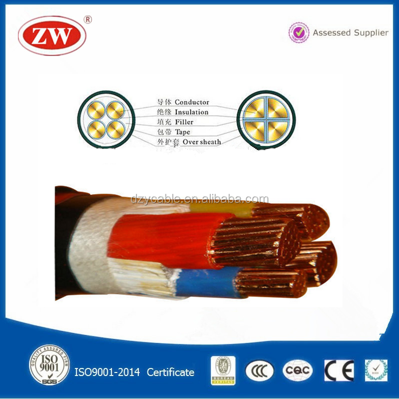 low voltage Electric pure copper conductor 16mm2 power cable