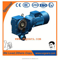 High torgue extended output bearing hub conveyor electrical motor with reduction gear