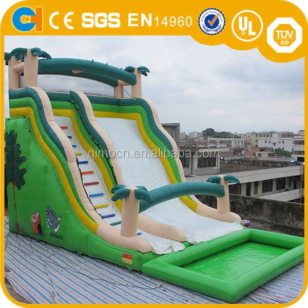 Hippo Inflatable Water Slide With Swimming Pool Giant Inflatable Slide For Pool Game Buy Intex