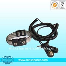 Dual Coil cord Metal band wrist strap, ESD safe