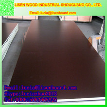 Cheap 18mm black film faced plywood , solid wood plywood for construction
