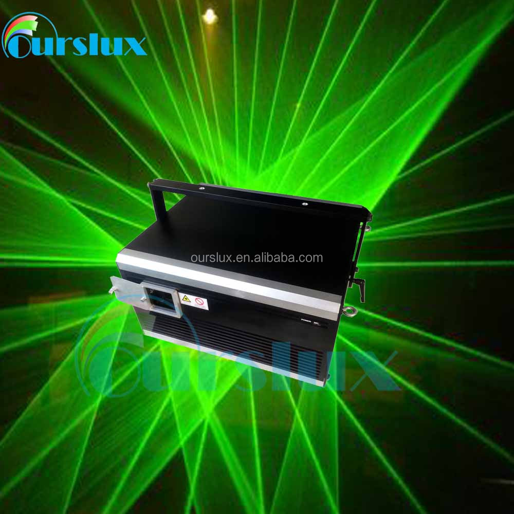 2w 3w 5W Powerful green laser man equipment beam effects outdoor event stage laser dance show 532nm laser light