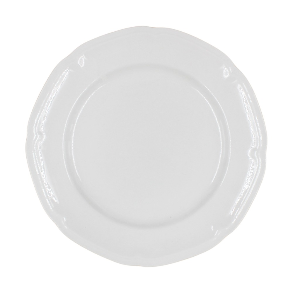 White royal embossed ceramic porcelain charger plates
