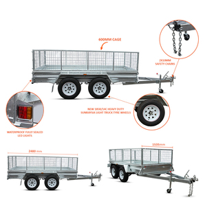 NEW 10x5 Tandem AXLE Box UTILITY Trailer 900MM CAGE Fully Welded GALVANISED FOR SALE