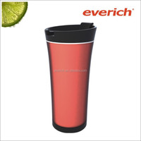 elegant design plastic insulated water tumbler bottle with stainless stee tea infuser