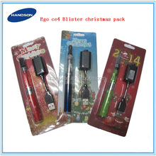 New year Christmas kit most popular ecig xmas ego ce4 blister kit with xmas battery