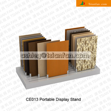 Removable simplified ceramic tile display ground stands/granite tiles display stand -CE013