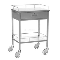 High Quality 304 SS Medical Cart Stainless Steel Instrument