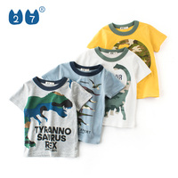 Hot sale summer style kids boy multiple colors t shirts with nice dinosaur print