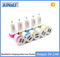 5V 2.4A portable dual usb car charger AiNaU [ MOYOTO ORIGINAL ]