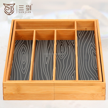 expanded large capacity healthful bamboo wood cutlery box/tray walmart