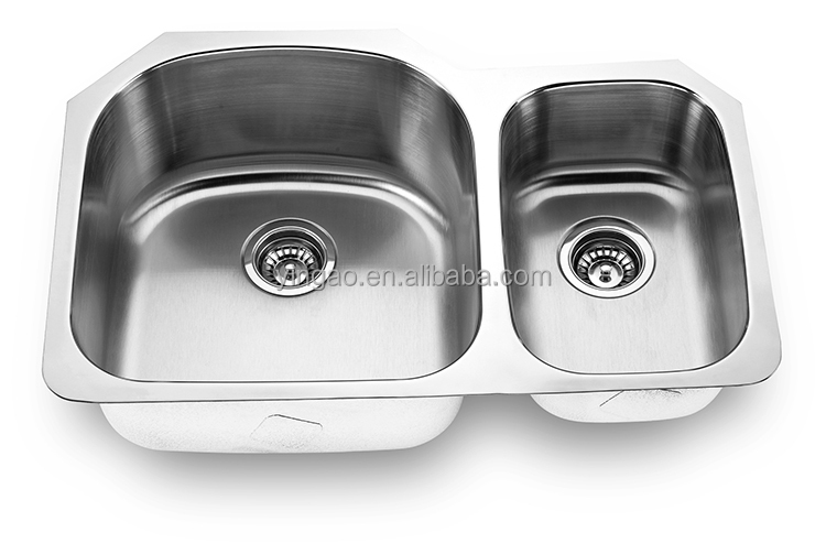 Cheap Price Modern Style Rectangular Farmhouse Double Bowl SUS 304 Inox Sinks