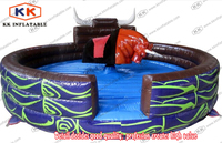 Rental park games mechanical bull rodeo machine with inflatable mattress